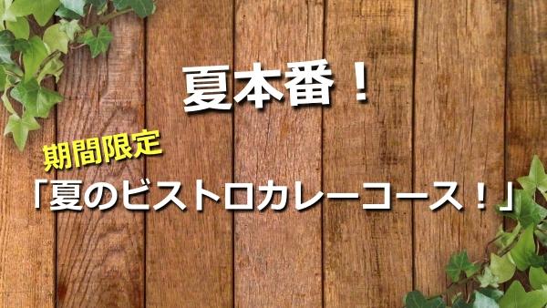 夏本番!期間限定「夏のビストロカレーコース!」